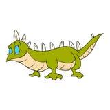 Cartoon green lizard Stock Images