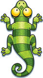 Cartoon Green Lizard Royalty Free Stock Image