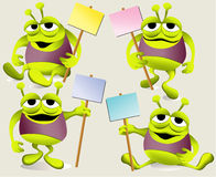 Cartoon green monsters Stock Photo