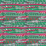 Cartoon Green and pink cloud pattern Royalty Free Stock Photo