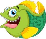 Cartoon of green piranha Stock Photo