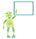Cartoon green robot Stock Image