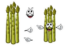 Cartoon green shoots of asparagus Stock Image