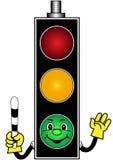 Cartoon green traffic light Stock Photo