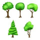 Cartoon  green tree set illustration Royalty Free Stock Photos