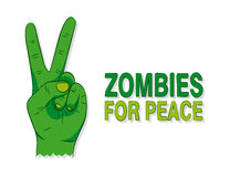 Cartoon of a green zombie hand Royalty Free Stock Photos