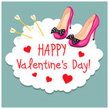 Cartoon Greeting Card Valentines Day Royalty Free Stock Photo