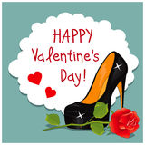Cartoon Greeting Card Valentines Day Stock Image