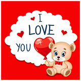 Cartoon Greeting Card Valentines Day Stock Photography
