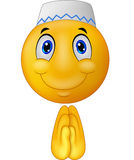 Cartoon Greeting Muslim emoticon. Illustration of Cartoon Greeting Muslim emoticon Royalty Free Stock Photos