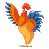 Cartoon greeting Rooster Royalty Free Stock Photos