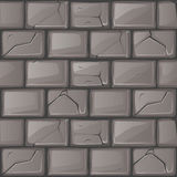 Cartoon grey stone Wall texture. Set seamless background vector illustration