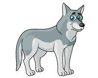 Cartoon grey wolf Royalty Free Stock Photos