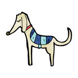 Cartoon greyhound Stock Photography
