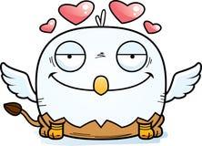 Cartoon Griffin in Love vector illustration