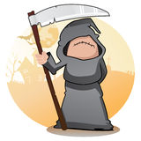 Cartoon Grim Reaper Stock Image