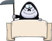 Cartoon Grim Reaper Banner Stock Photography