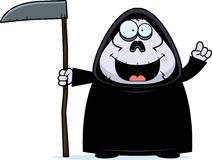 Cartoon Grim Reaper Idea Royalty Free Stock Photos