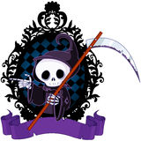 Cartoon Grim Reaper Pointing Royalty Free Stock Images