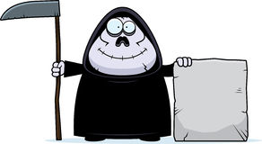 Cartoon Grim Reaper Tombstone Stock Photography