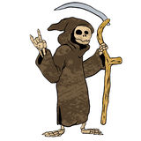 Cartoon grim reaper. Royalty Free Stock Image