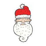 Cartoon grim santa face Stock Photos