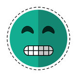 Cartoon grimacing face emoticon Stock Photo