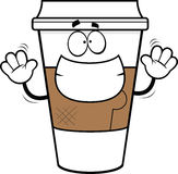 Cartoon Grinning Coffee Cup. Cartoon illustration of a takeout coffee cup with a big grin Royalty Free Stock Image