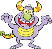 Cartoon grinning monster. Royalty Free Stock Images