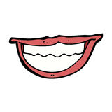 Cartoon grinning mouth Stock Photo