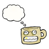Cartoon grinning mug Stock Images