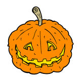 Cartoon grinning pumpkin Stock Image