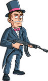 Cartoon Groom with a machine gun Stock Image