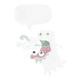 Cartoon gross ghost with speech bubble Stock Photos