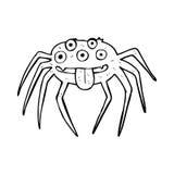 Cartoon gross halloween spider Royalty Free Stock Photo