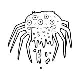 Cartoon gross halloween spider Stock Photos