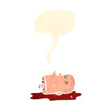 Cartoon gross severed head Stock Photography