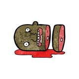Cartoon gross severed head Stock Image