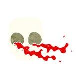 Cartoon gross skull Stock Photos