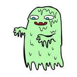 Cartoon gross slime ghost Stock Photography