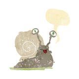 cartoon gross slug with speech bubble Stock Photography