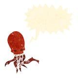Cartoon gross tentacle skull Stock Photography