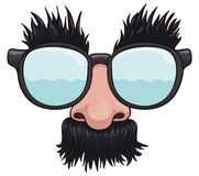 Cartoon Groucho Glasses for April Fools' Day, Vector Illustration Royalty Free Stock Image