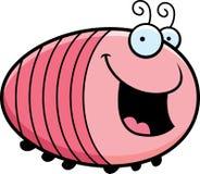 Cartoon Grub Smiling Stock Image