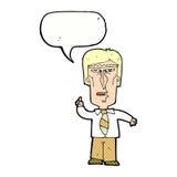 cartoon grumpy boss with speech bubble Stock Images