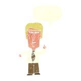 cartoon grumpy boss with speech bubble Royalty Free Stock Photos