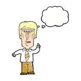 cartoon grumpy boss with thought bubble Stock Photos