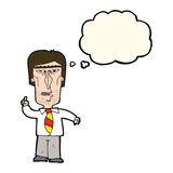 cartoon grumpy boss with thought bubble Royalty Free Stock Photography