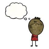 Cartoon grumpy boy Stock Photography