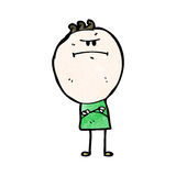 Cartoon grumpy doodle man Royalty Free Stock Images